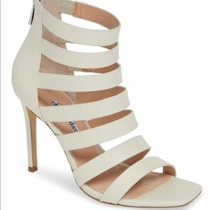 CHARLES DAVID caged leather sandals
